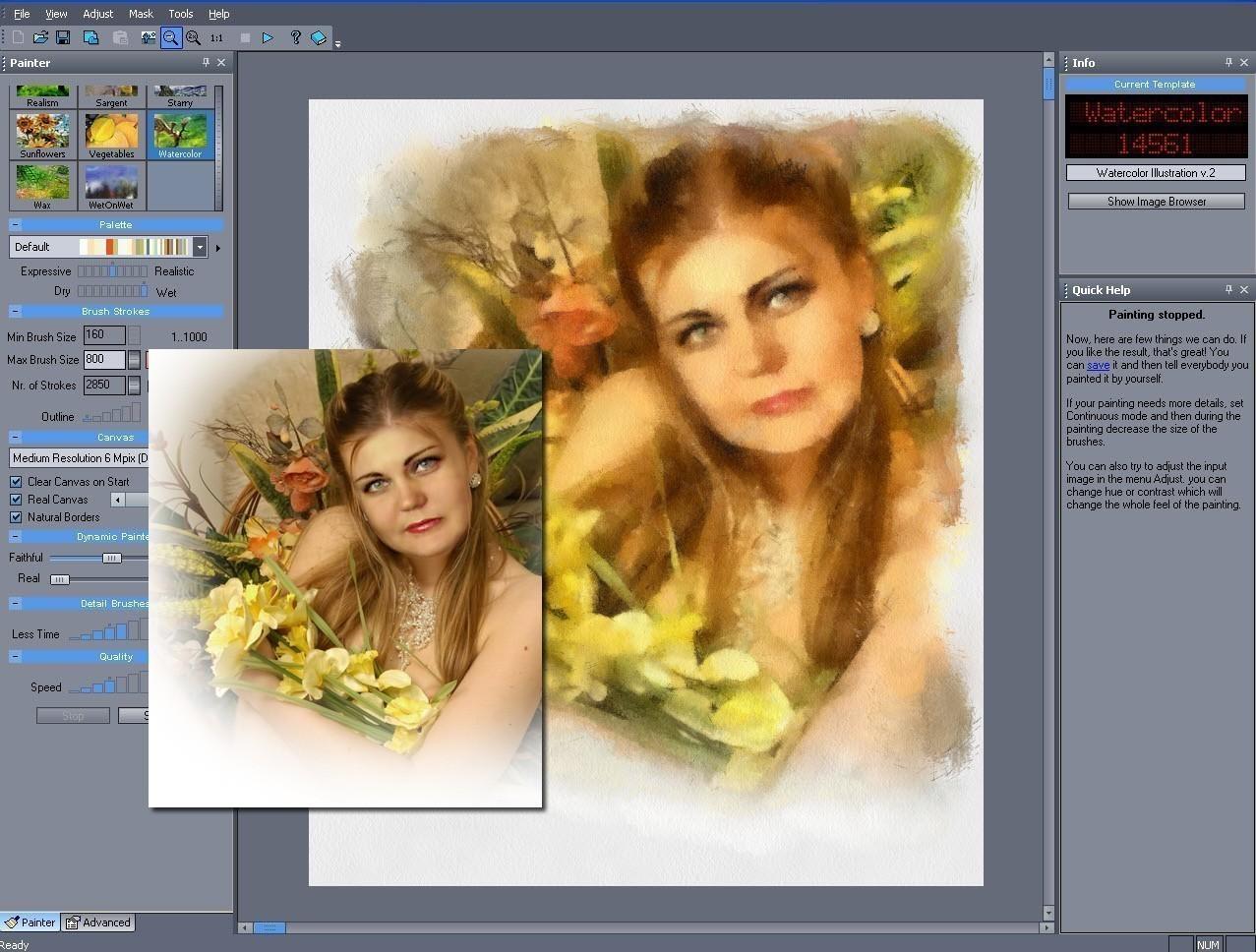 может стать программы для превращения фото в картину повесить тарелки