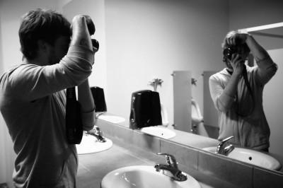Селфи фотография от зеркала