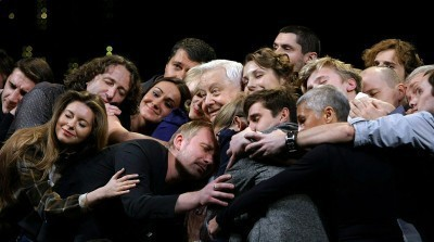 Actors of the Moscow Art Theater congrat
