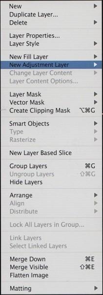 Использование Adjustment Layers