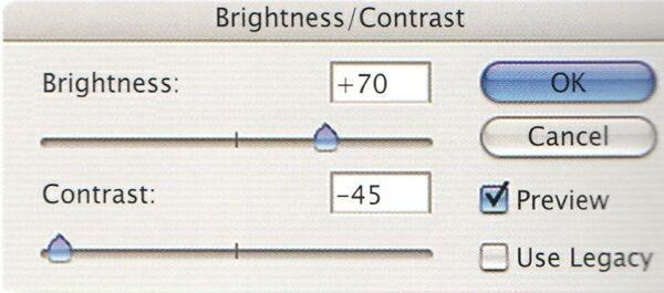Управление контрастом