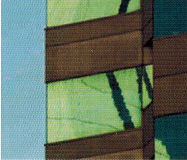 При сжатии на уровне 3 на изображении становятся видимыми пикселы.