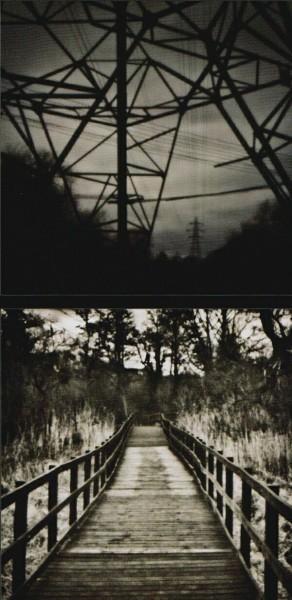Результаты, полученные с помощью самодельной точечной диафрагмы на цифровой камере. Изображения преобразованы в черно-белые и добавлен шум.