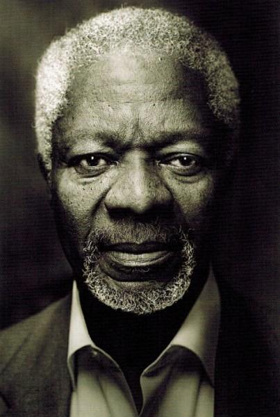 Кофи Аннан портрет Вольфа Мэрлоха
