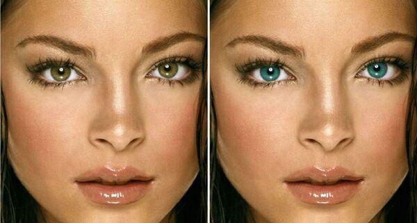 Изменить цвет глаз в пайнт нет