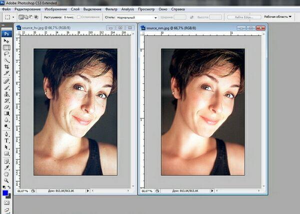 кадрирование и выравнивание в фотошоп