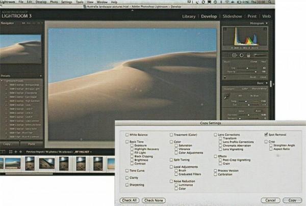 Профиль пыли в программе Adobe Lightroom