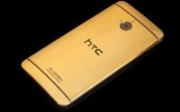 Вышла новая модель телефона HTC One в золоте
