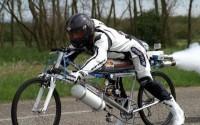 Велосипед с реактивным двигателем, установивший новый мировой рекорд скорости