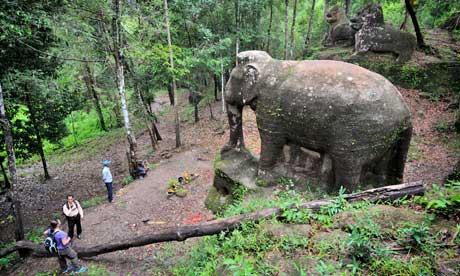 Srah Damrie, Siem Reap archaeology, Mount Kulen
