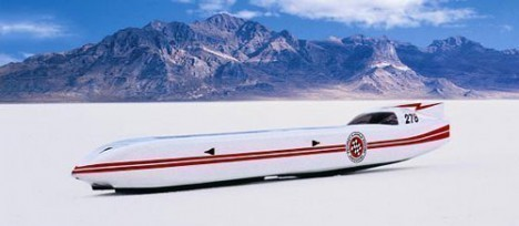 White Lightning Electric Streamliner
