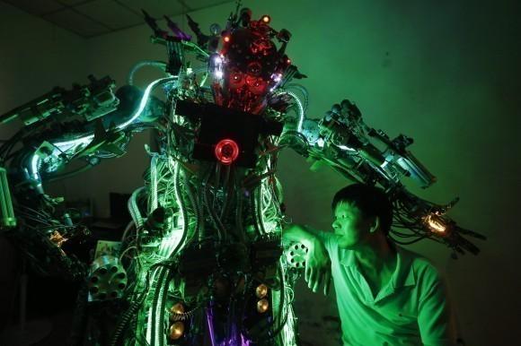 self-made robot