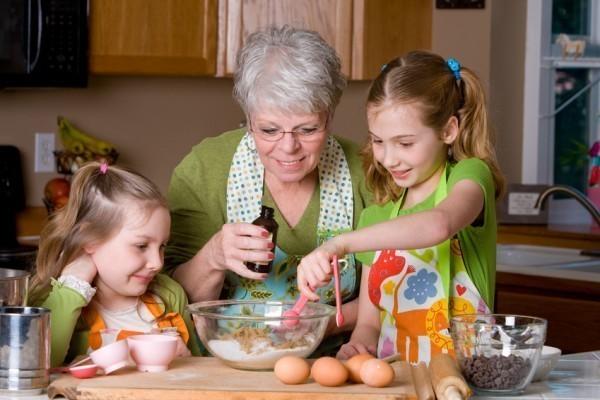 measuring ingredients from Grandmas recipe