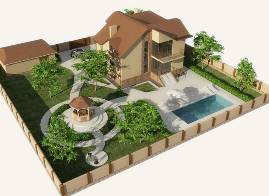 План загородного участка