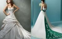Свадебное платье: белое или цветное?