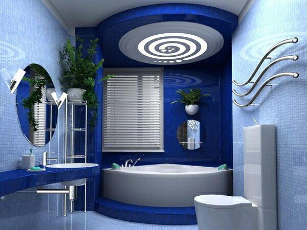 Дизайн потолка для ванной