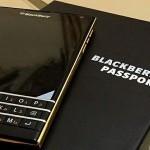 Blackberry представила дорогой смартфон с золотыми вставками – Passport Gold