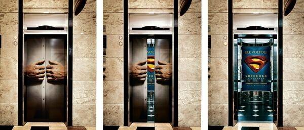 креативная реклама в лифте