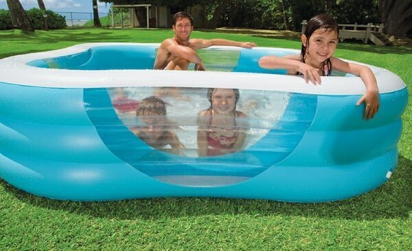 надувной бассейн на даче