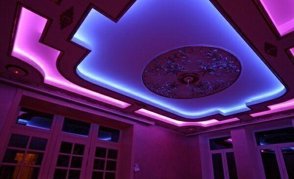 светодиодные ленты в комнате
