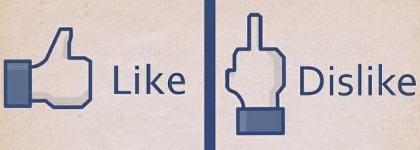социальные кнопки like dislike