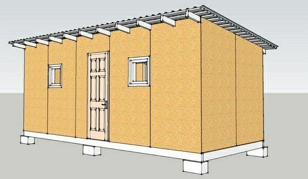 план строительной бытовки