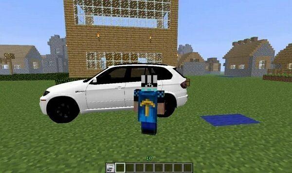 автомобиль в майнкрафт