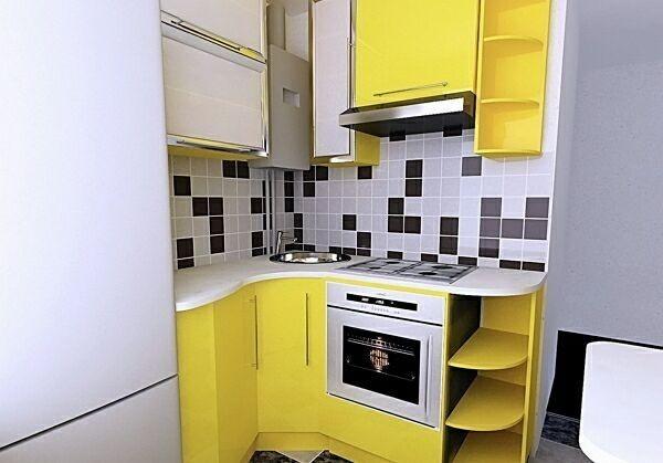 идея маленькой кухни