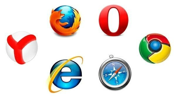 логотипы известных браузеров