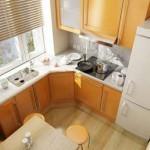 Как обставить небольшую кухню?