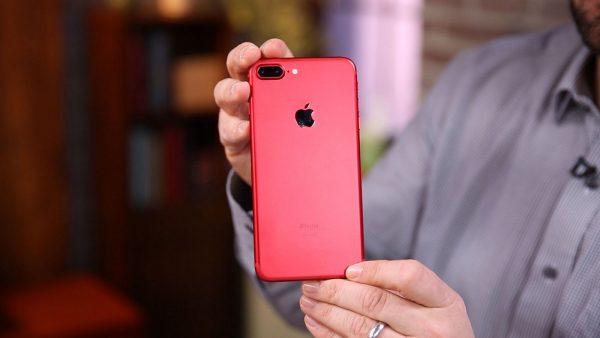 красный айфон 7