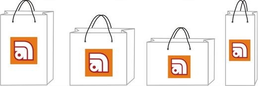 Печать бумажных пакетов с логотипом