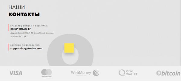 Брокер не ограничивает трейдеров в использовании виртуальных платежных систем для вывода денежных средств.