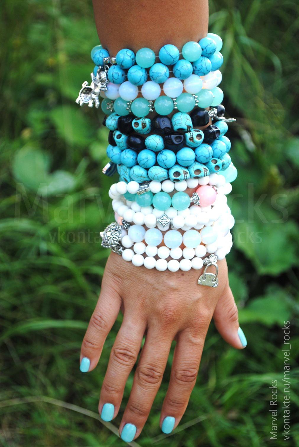 Фото браслеты с натурального камня своими руками