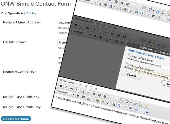 Простые Контактные формы