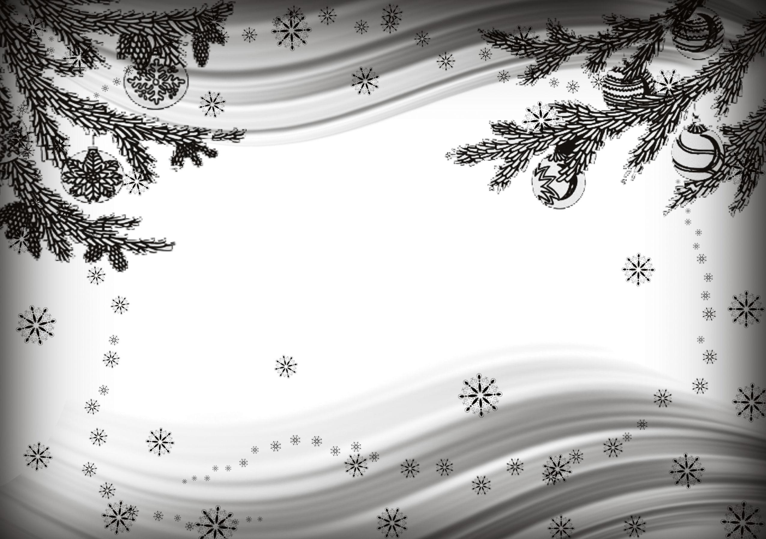 Новогодний фон для открытки черно-белый